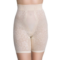 QT Intimates Lace Jacquard Long-Leg Shapewear