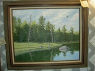Evergreen Shore Original Acrylic Painting by David Spear