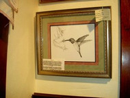 Hummingbird Original Pen & Ink Drawing by Sherry Howe