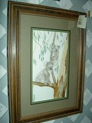 Koala Bears in Tree Original Watercolor by the Porter Family