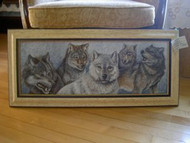 Wolves Scene Framed Original Acrylic Painting by Dan Perotti