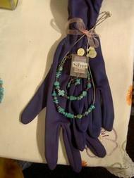 Turquoise Necklace, Bracelet & Earring set w/ Cross Hand Made by Shannon Greiczek