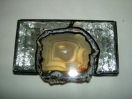 Crackled Glass Hand Made Stained Glass Box by Lorinda Niemi