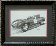 Framed Old Car Pencil Drawing by William McKie