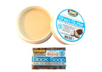 Shea Butter Hand Moisturizer and Black Soap Bar