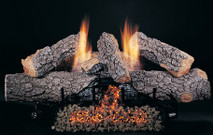 "30"" Evening Embers by Rasmussen Gas Logs, Bark side of logs showing"