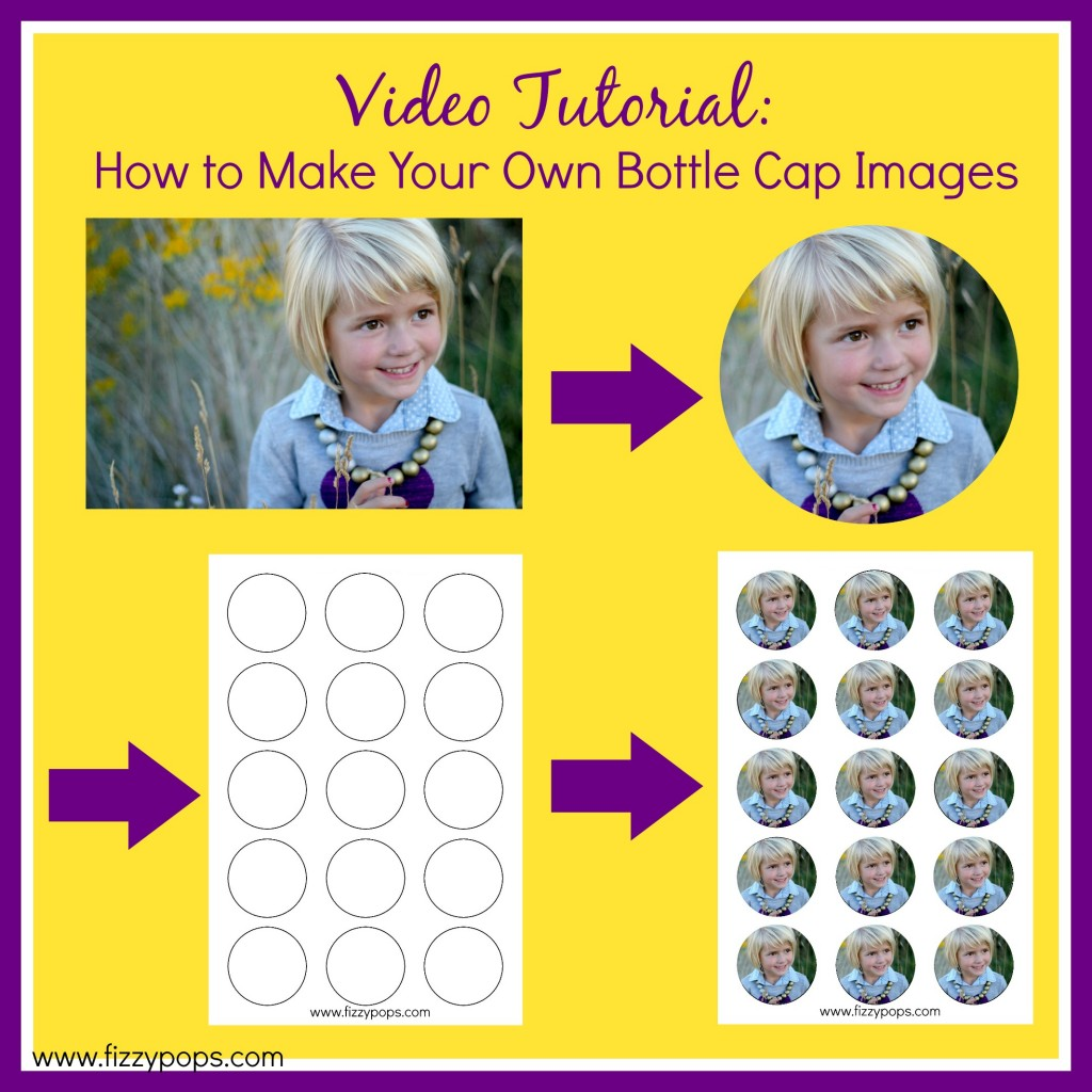Video tutorial how to make your own bottle cap images fizzy pops video tutorial how to make your own bottle cap images maxwellsz
