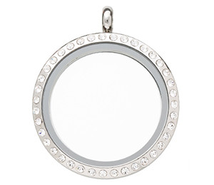 Stainless Steel Floating Living Memory Locket 30mm