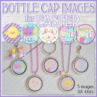Easter Bottle Cap Image DOWNLOAD