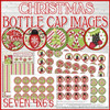 "Christmas 1"" Bottle Cap Image Printable DOWNLOAD"