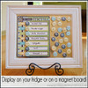 WEEKLY Menu Board with BOTTLE CAP Magnets - Printable DOWNLOAD