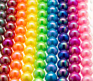 AB Round Smooth Chunky Beads 12mm