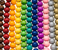Colored Round Wooden Beads 20mm