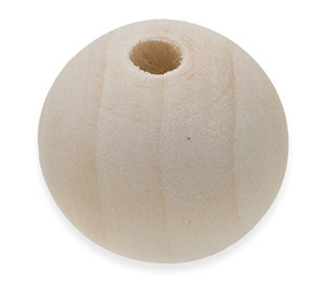 Unfinished Round Wooden Beads 24mm