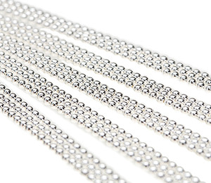 """Ball Chain Necklaces Sterling Silver Plated 24"""""""