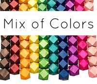 Colored Geometric Wooden Beads MIX 20mm (9 pack)