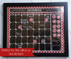 "Monthly CALENDAR ""Faux"" CHALKBOARD Bottle Cap Magnet Icons - Printable Download"