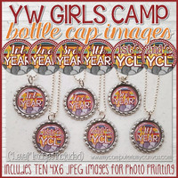 YW CAMP Certification Level Bottle Cap Printable DOWNLOAD