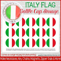 "Italy FLAG 1"" Bottle Cap Images Printable DOWNLOAD"