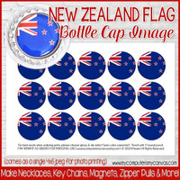 "New Zealand FLAG 1"" Bottle Cap Images Printable DOWNLOAD"