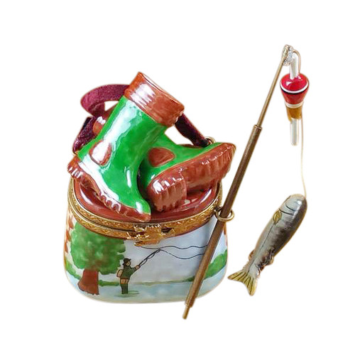 Fisherman Boots On Creel Rochard Limoges Box