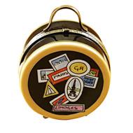 Luggage Round - World Sticker Rochard Limoges Box
