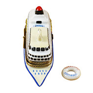 Cruise Ship With Lifebuoy Rochard Limoges Box