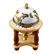 Globe On Stand Rochard Limoges Box