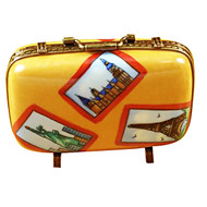 Suitcase With Large Tags Rochard Limoges Box