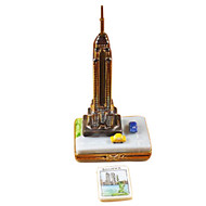 Empire State Bldg W/Cars Rochard Limoges Box