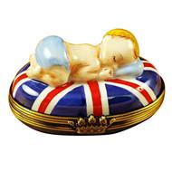 George Alexander Louis Of Cambridge On Union Jack Rochard Limoges Box
