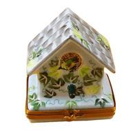 Birdhouse Ivy/Wisteria Rochard Limoges Box