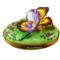 Pansy - Purple & Yellow Rochard Limoges Box
