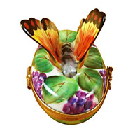 Limoges Imports Butterfly On Grapes Limoges Box