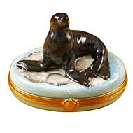 Limoges Imports Sea Lion Limoges Box