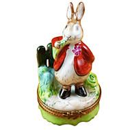 Limoges Imports Rabbit Eating Carrot Limoges Box