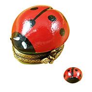 Limoges Imports Lady Bug W/ Ladybug Inside Limoges Box