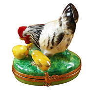 Limoges Imports Hen W/Chicks Limoges Box