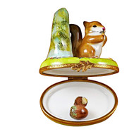Limoges Imports Squirrel W/Acorn Limoges Box