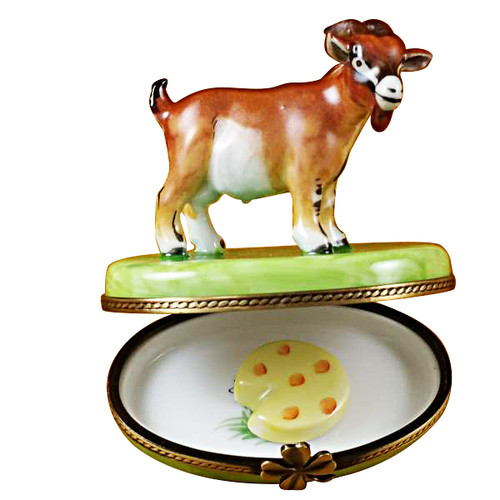 Limoges Imports Billy Goat With Cheese Limoges Box