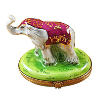 Limoges Imports Indian Elephant Limoges Box