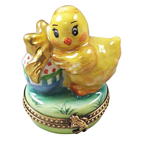 Limoges Imports Easter Chick With Egg Limoges Box