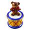Limoges Imports Bear On Drum Limoges Box