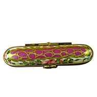 Limoges Imports Red Needle Box Limoges Box