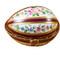 Limoges Imports Burgundy Striped Egg Limoges Box
