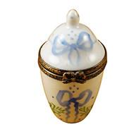 Limoges Imports Blue/White Urn Limoges Box