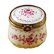 Limoges Imports Small Pink Delft Limoges Box