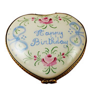 Limoges Imports Happy Birthday Heart Limoges Box