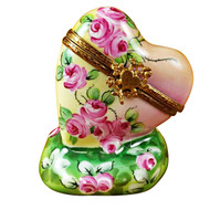 Limoges Imports Floral Heart @45* Angle Limoges Box