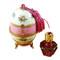 Limoges Imports Pink Egg W/Bottle Limoges Box